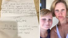 'He didn't want me to see': Mum finds son's heartbreaking letter to Santa