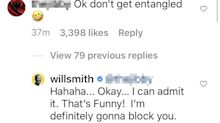 Will Smith Says He's Going to Block Fan After Entanglement Jab: 'But the Joke Was Very Funny'