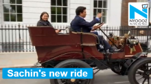 Sachin Tendulkar drives 119 year-old Veteran car