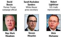 'Many' candidates vying for chief of staff job, Trump says