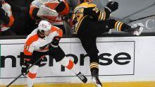 Banged-up Matt Grzelcyk sits out Bruins' win over Flyers