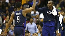 Team USA closed its pre-Olympics slate with some great alley-oops