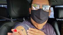 Faustão recebe primeira dose da vacina contra a Covid-19 em São Paulo