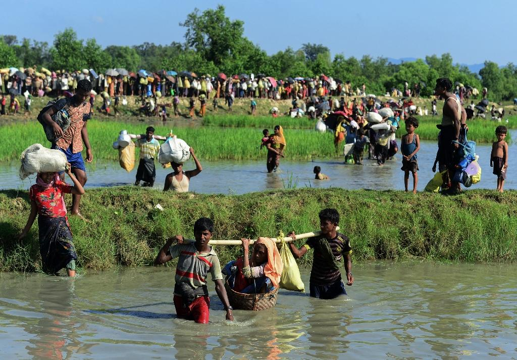 The Myanmar soldiers were sentenced for killing 10 Rohingya villagers during a bloody army crackdown in 2017 that forced some 740,000 Rohingya to flee across the border into Bangladesh