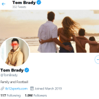 Tom Brady changes profile photo to Bitcoin laser eyes. And Twitter reacted