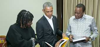 Obama in Kenya on 2-day visit for family project