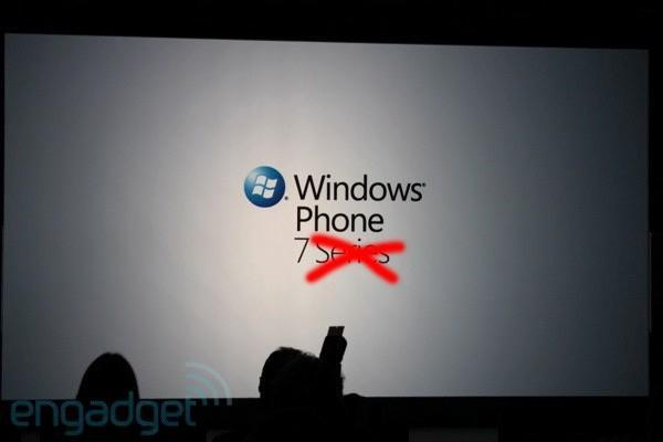 Windows Phone 7 is the new name, 'Series' gets voted off island