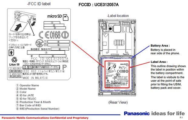 Panasonic P-02E smartphone appears in the FCC flesh, looks Japan-bound