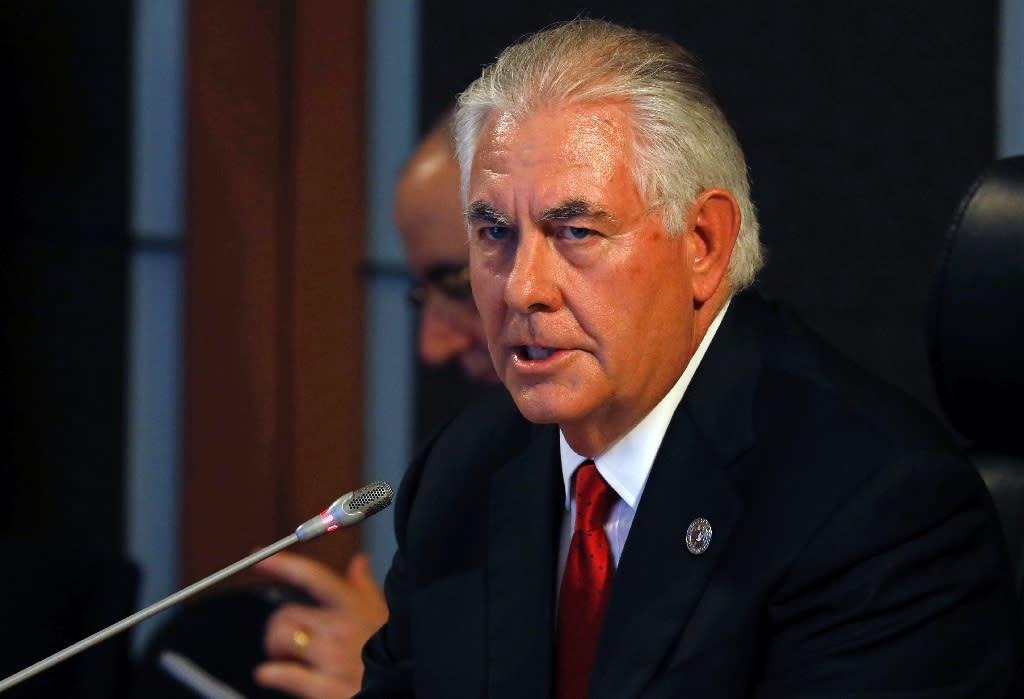 US Secretary of State Rex Tillerson says Washington will only consider talks if Pyongyang halts its ballistic missile programme (AFP Photo/ERIK DE CASTRO)