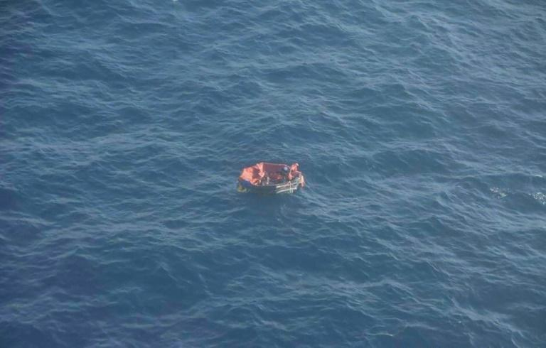 Three Bourbon Rhode crew members were rescued from a lifebaot