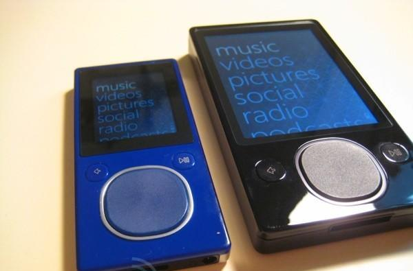 Zune blue 8GB and 120GB unboxing