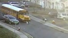 'It's a miracle': 5-year-old girl survives being run over by school bus in terrifying clip