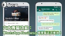六大專屬功能,WhatsApp Business 商業版正式推出!(附下載)