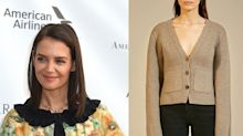 Katie Holmes wore the chicest cashmere cardigan - plus 5 cheaper chunky knits to buy now