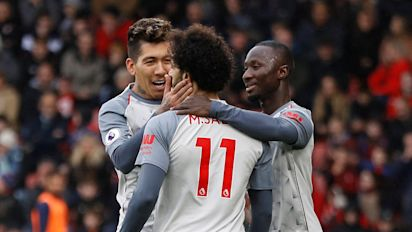 Salah the hat-trick hero as Liverpool storm to the top