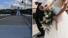 How family in two different countries attended the same wedding