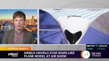 Airbus unveils Star Wars-like plane model at air show