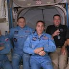 US astronauts dock at International Space Station