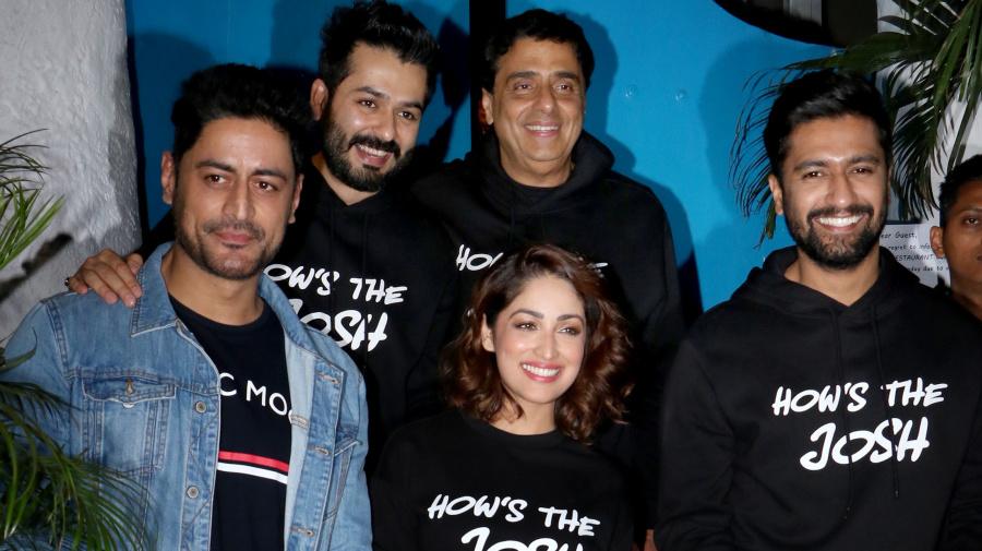Vicky Kaushal, Yami Gautam, Radhika Apte celebrate the success of 'Uri'
