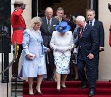 Canada's Governor General touches Queen in breach of royal protocol 'to ensure she didn't slip'