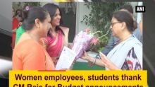 Women employees, students thank CM Raje for Budget announcements