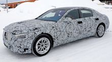 Mercedes-Benz S-Class Saloon spied showing production lights