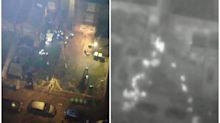 Dramatic footage of moment police attacked while breaking up 40-person house party