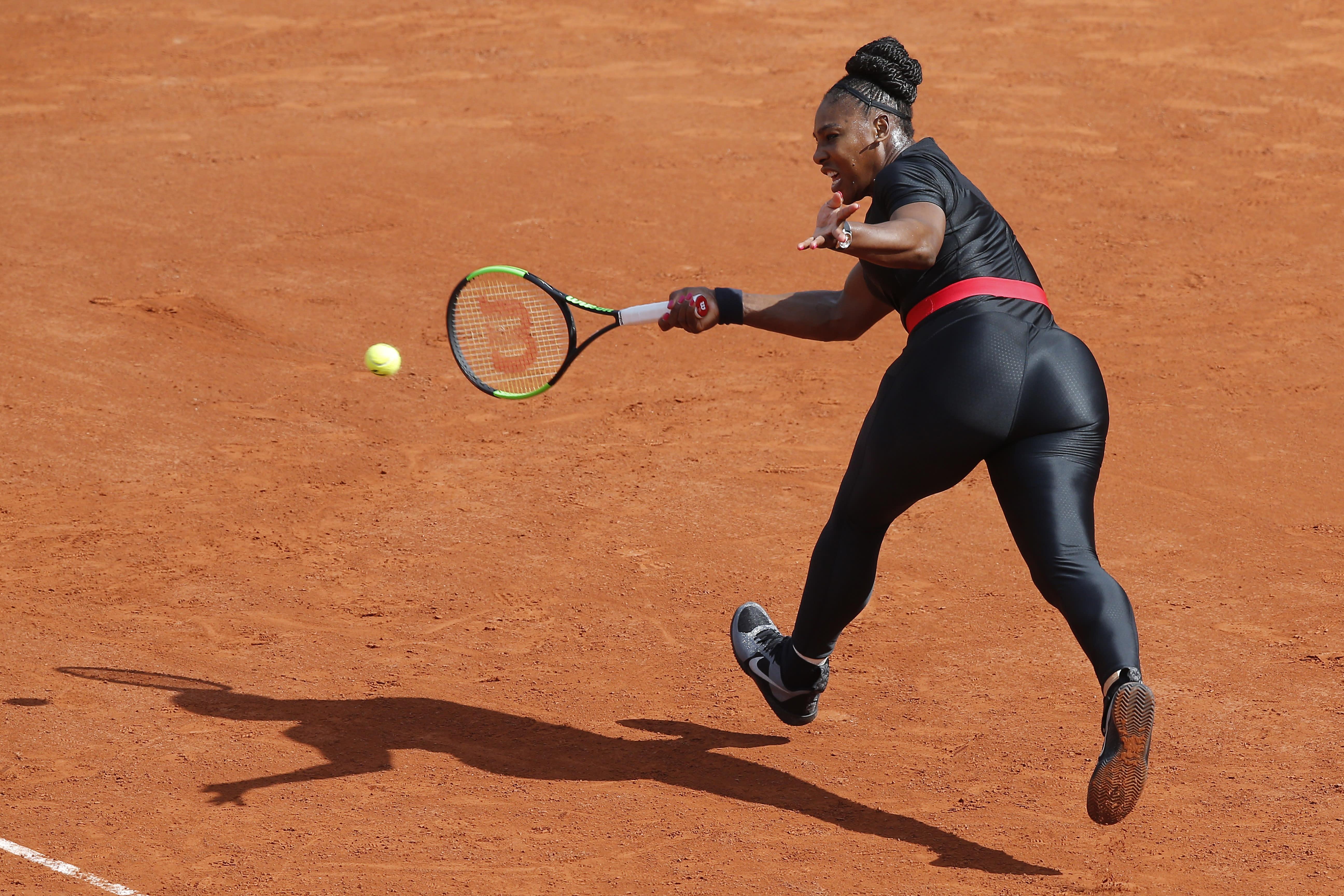 b9e4ec18ccf Serena Williams returns to tennis dressed like a superhero  Video