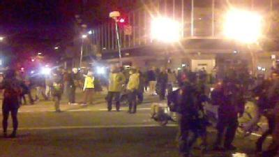 From The Field: Police In Riot Gear, Clearing Protesters