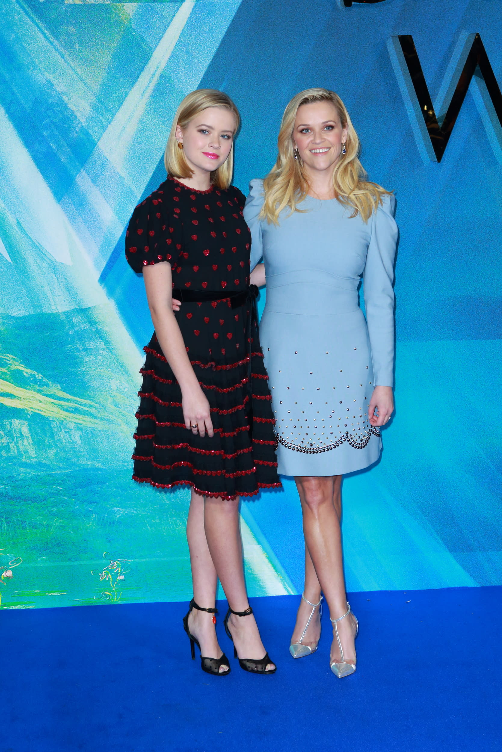 LONDON, UNITED KINGDOM - MARCH 13: Ava Phillippe and Reese Witherspoon attends the European Premiere of 'A Wrinkle In Time' at BFI IMAX on March 13, 2018 in London, England.   PHOTOGRAPH BY Jamy / Barcroft Images (Photo credit should read Jamy / Barcroft Media via Getty Images)