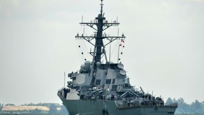 How could a US warship have collided with a tanker?