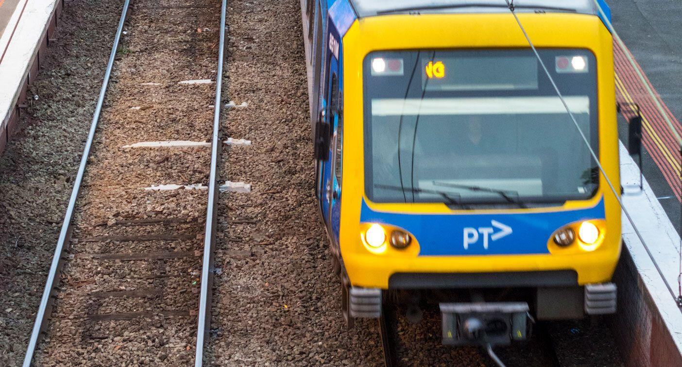 Passengers force their way out of train during peak-hour nightmare