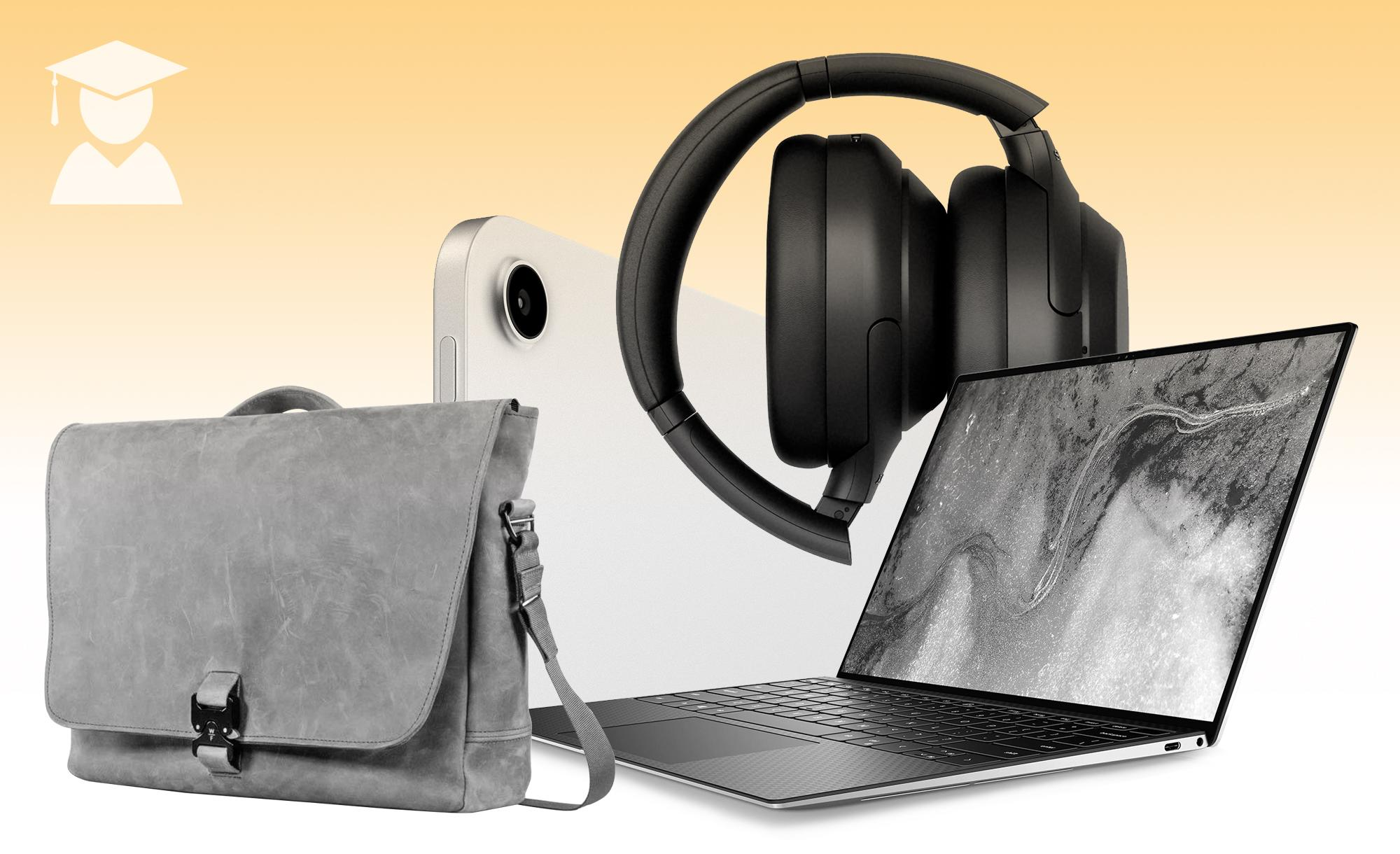 A collage of products in Engadget's graduation gift guide upgrade gifts section.