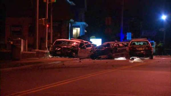 New Jersey cop hurt when chase ends in crash