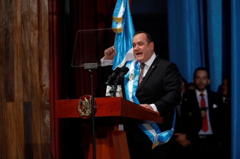 Guatemala's president to discuss migration with Mexico, speak with Trump