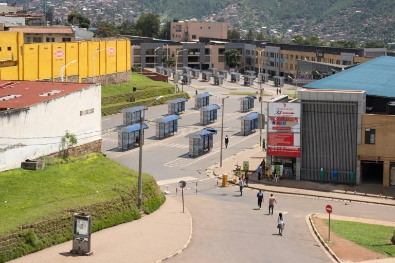 Empty: The bus station in the Rwandan capital Kigali after the government imposed a travel ban (AFP Photo/Simon Wohlfahrt)