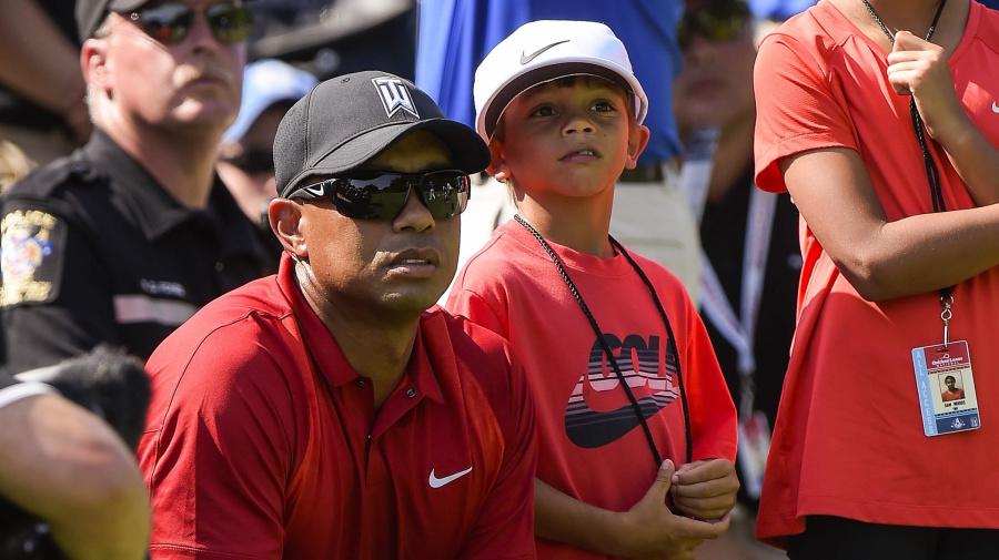 Tiger's son, 11, already talks trash like his dad