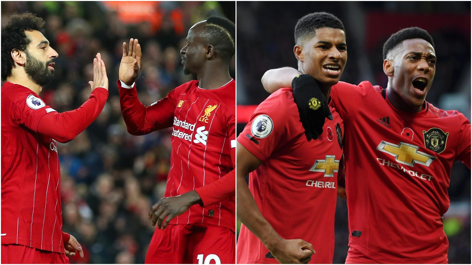 Liverpool V Man Utd How Rashford Martial Compare To Salah Mane