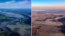 Aerial images show severe impact of drought on inland NSW