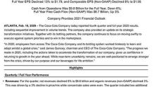 Coca-Cola Reports Fourth Quarter and Full Year 2020 Results