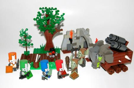 You know you want these Castle Crashers LEGOs to exist
