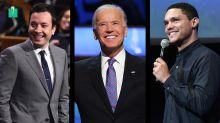 Late-Night Comics Tackle Biden's Candidacy