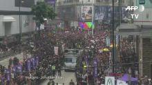 Novas manifestações em Hong Kong