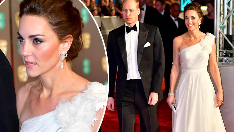 Kate dazzles in Diana's earrings at BAFTAs