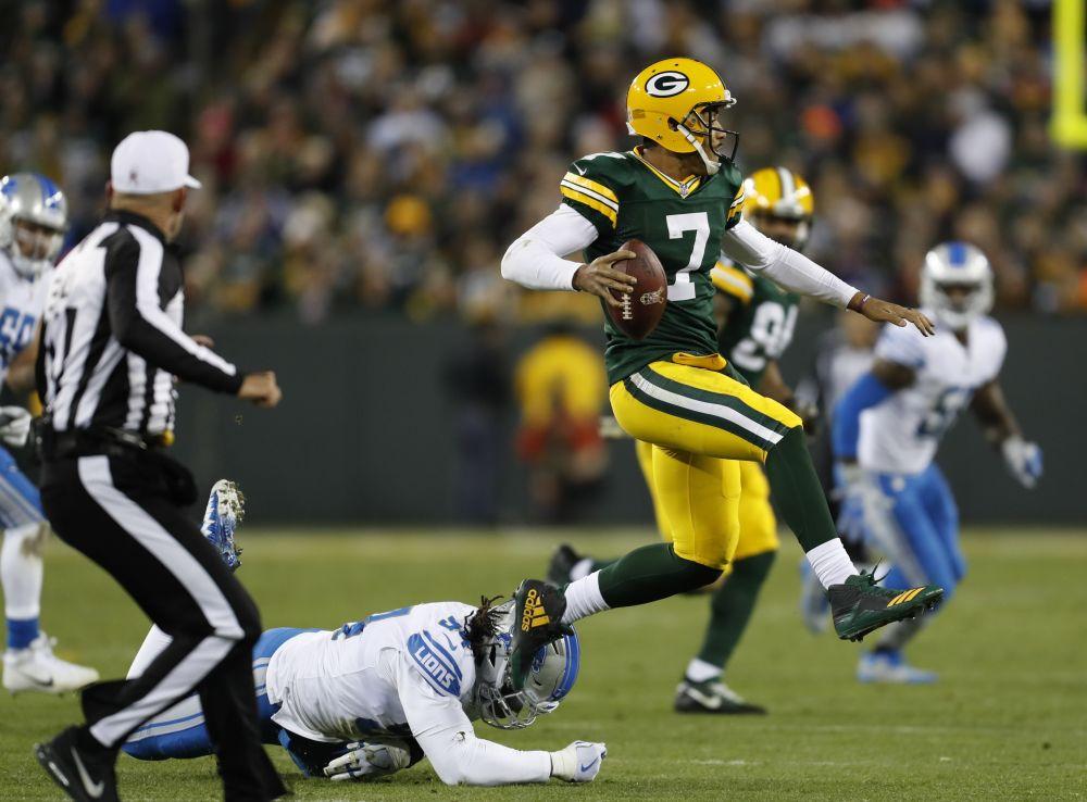 Green Bay Packers' Brett Hundley struggled again in his second career start. (AP)