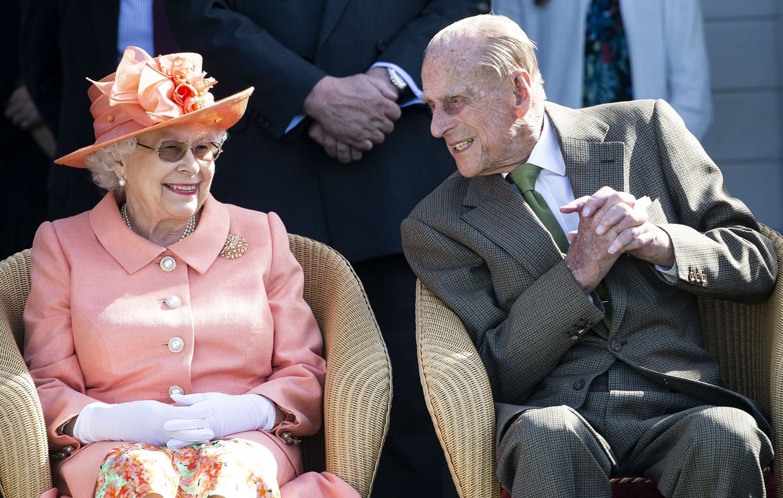 Photo by: zz/KGC-107/STAR MAX/IPx 2018 6/24/18 Her Majesty Queen Elizabeth II and Prince Philip The Duke of Edinburgh at the Royal Windsor Cup Final at the Guards Polo Club and the British Driving Society Annual Show at Smith's Lawn in Windsor Great Park. (Windsor, Berkshire, England, UK)