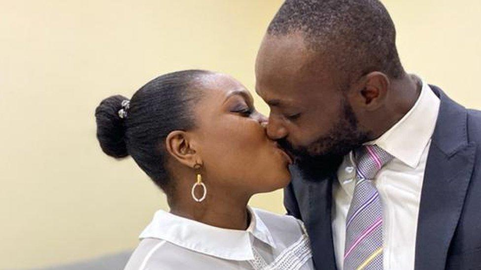 'Why our Nigerian online wedding suits us just fine'