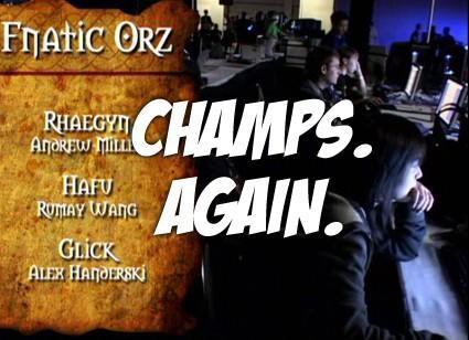 Fnatic Orz just about the best team in the world