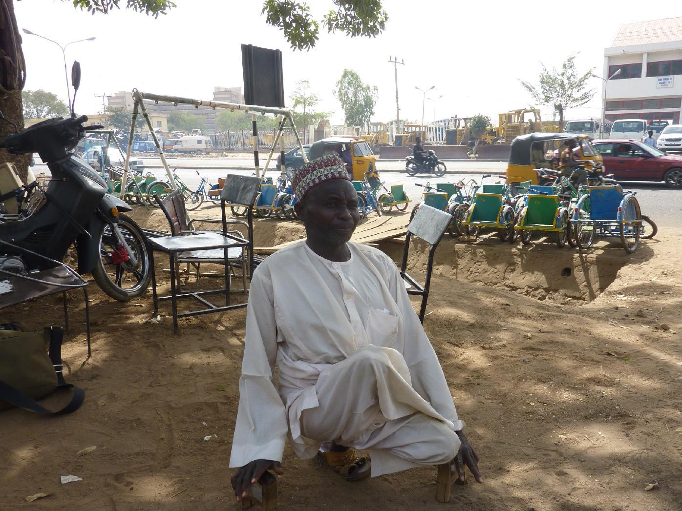 Chairman of the Kano state polio victims trust association Aminu Ahmed El Wada, pictured in Kano, on February 13, 2013 (AFP Photo/Ben Simon)