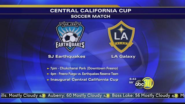 Los Angeles Galaxy play the Jose Earthquakes in Fresno
